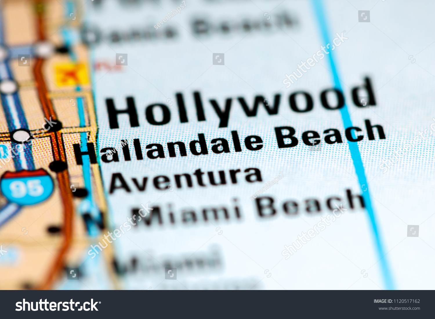 Hallandale Beach Florida Usa On Map Stock Photo Edit Now