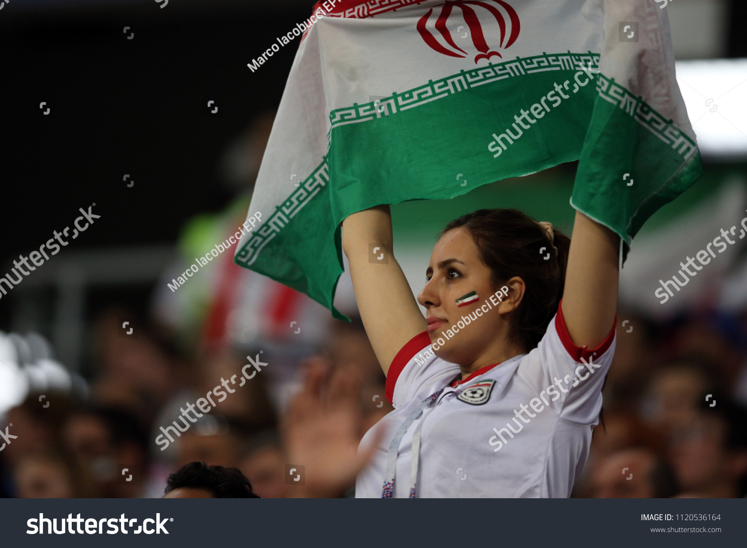 25062018 Saransk Russian IRAN FANS ON STANDS Stock Photo (Edit Now ... d5d7afb59