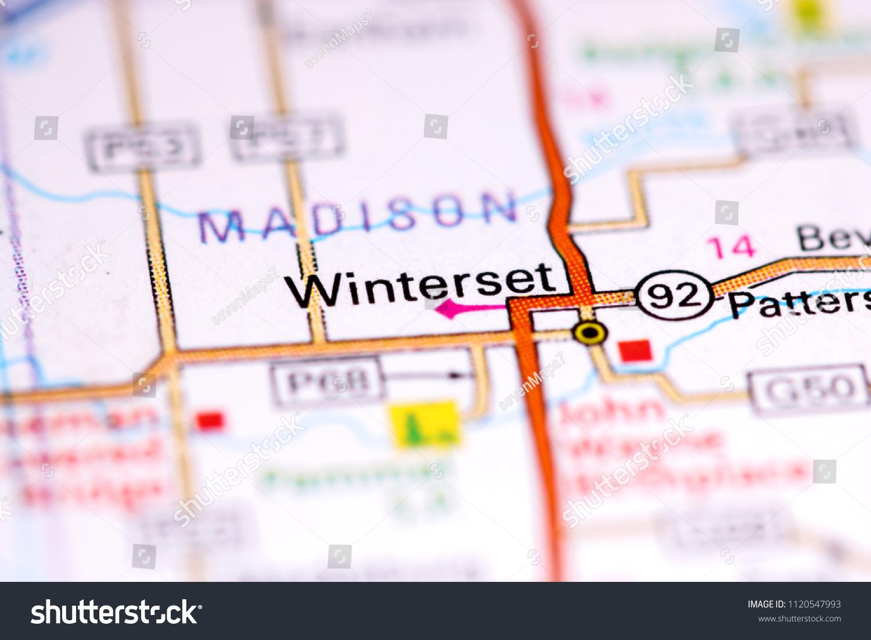 Winterset Iowa Usa On Map Stock Photo Edit Now 1120547993