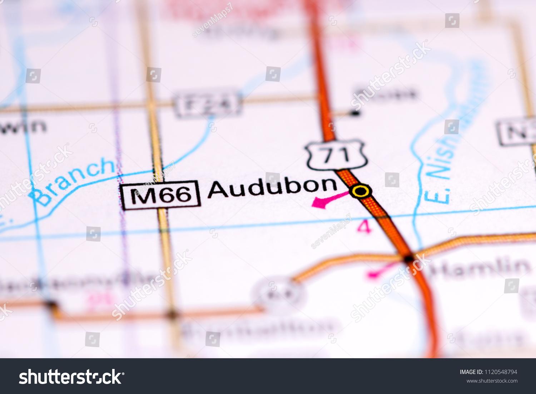 Audubon Iowa Map