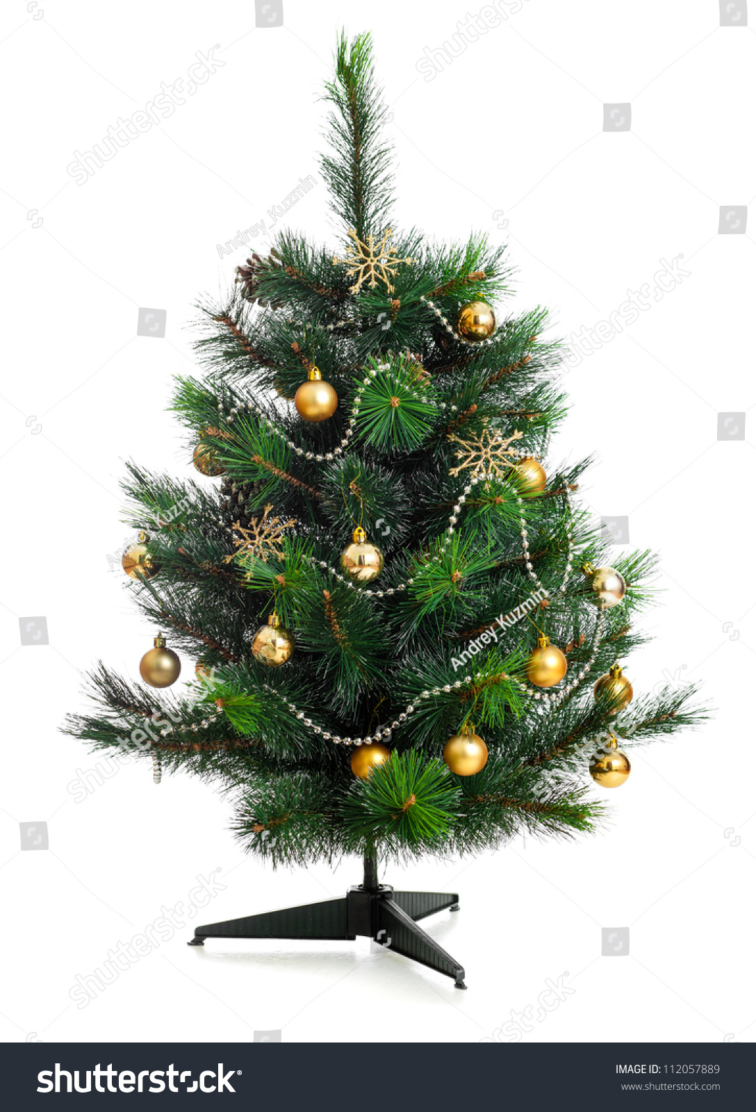 small decorated christmas tree isolated on white - Small Decorated Christmas Trees