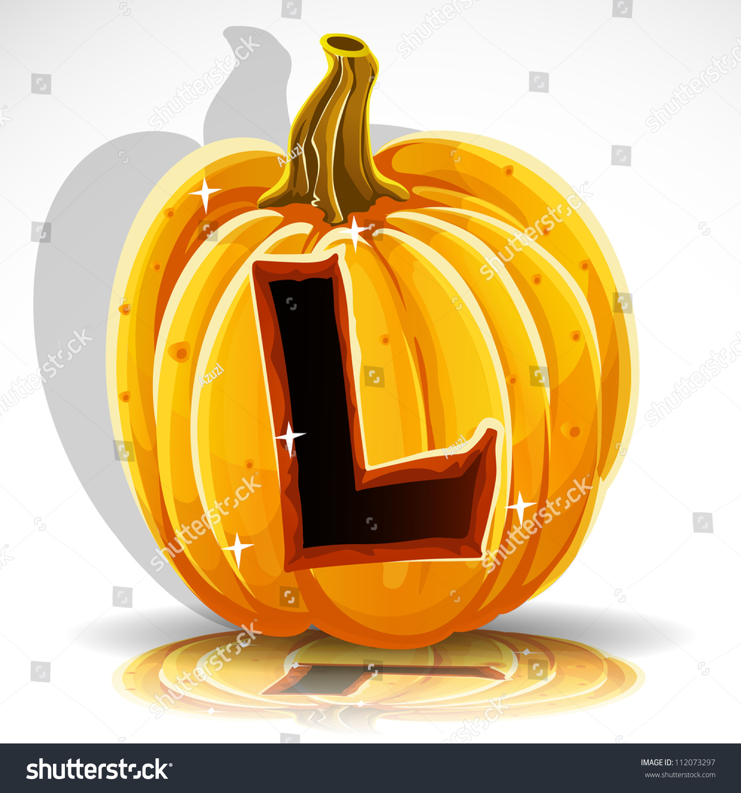 happy halloween font cut out pumpkin stock vector (royalty free