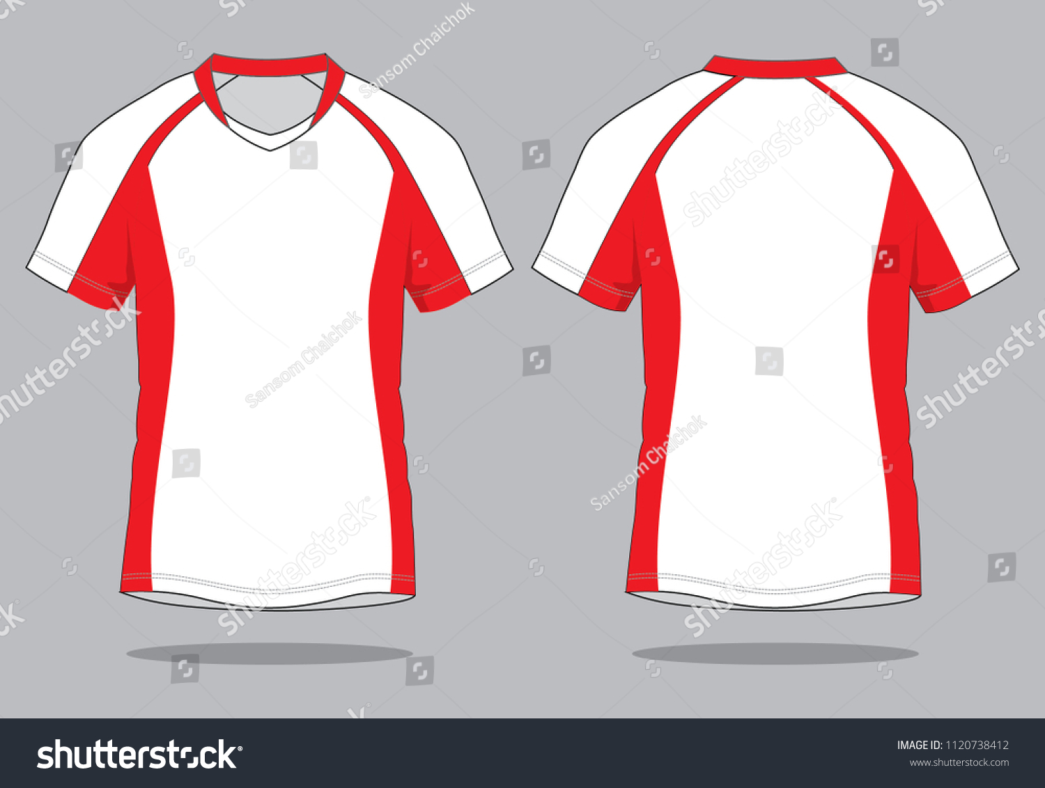 Mens Sports Polo Shirts Design White Stock Vector Royalty Free
