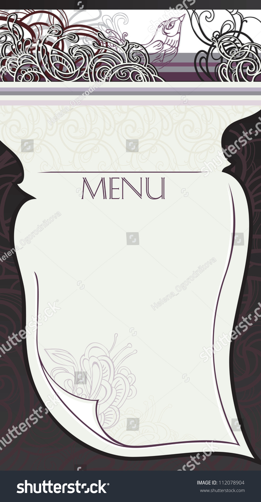 making page restaurant menu raster version stock illustration