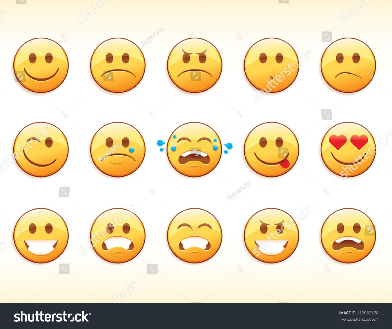 Emoticons Stock Vector 112082678 - Shutterstock
