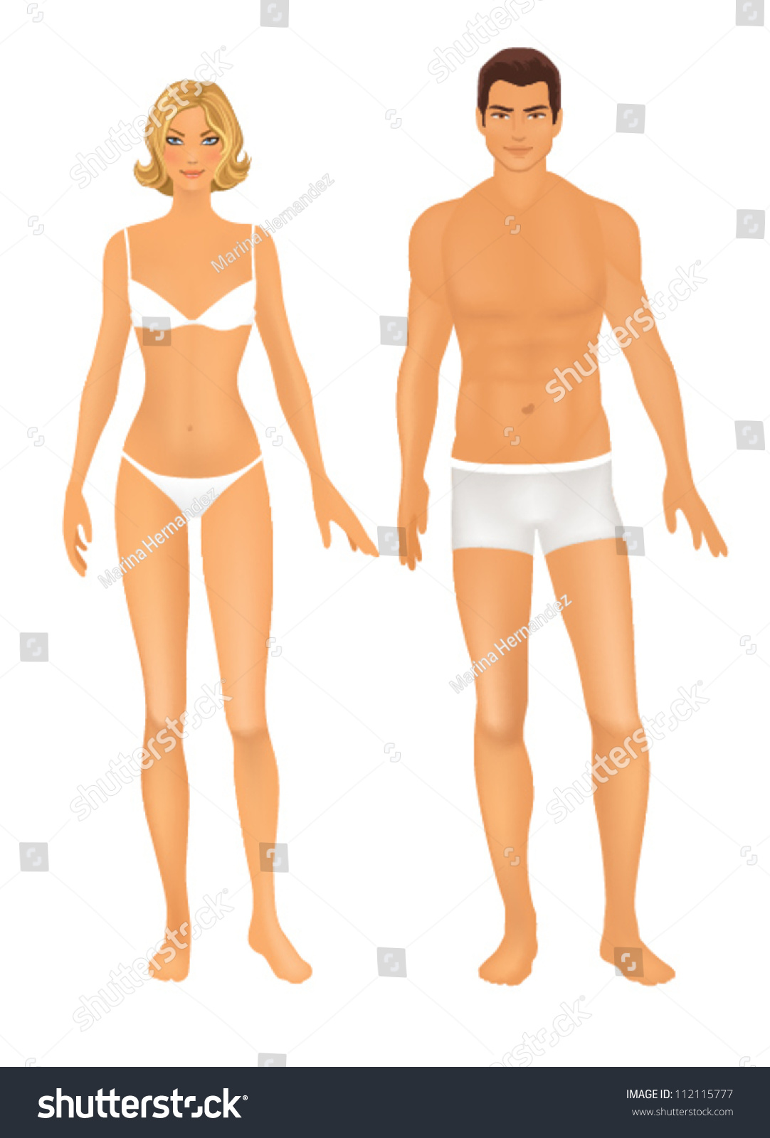 Male Female Body female and male body front. basic figure proportions ...
