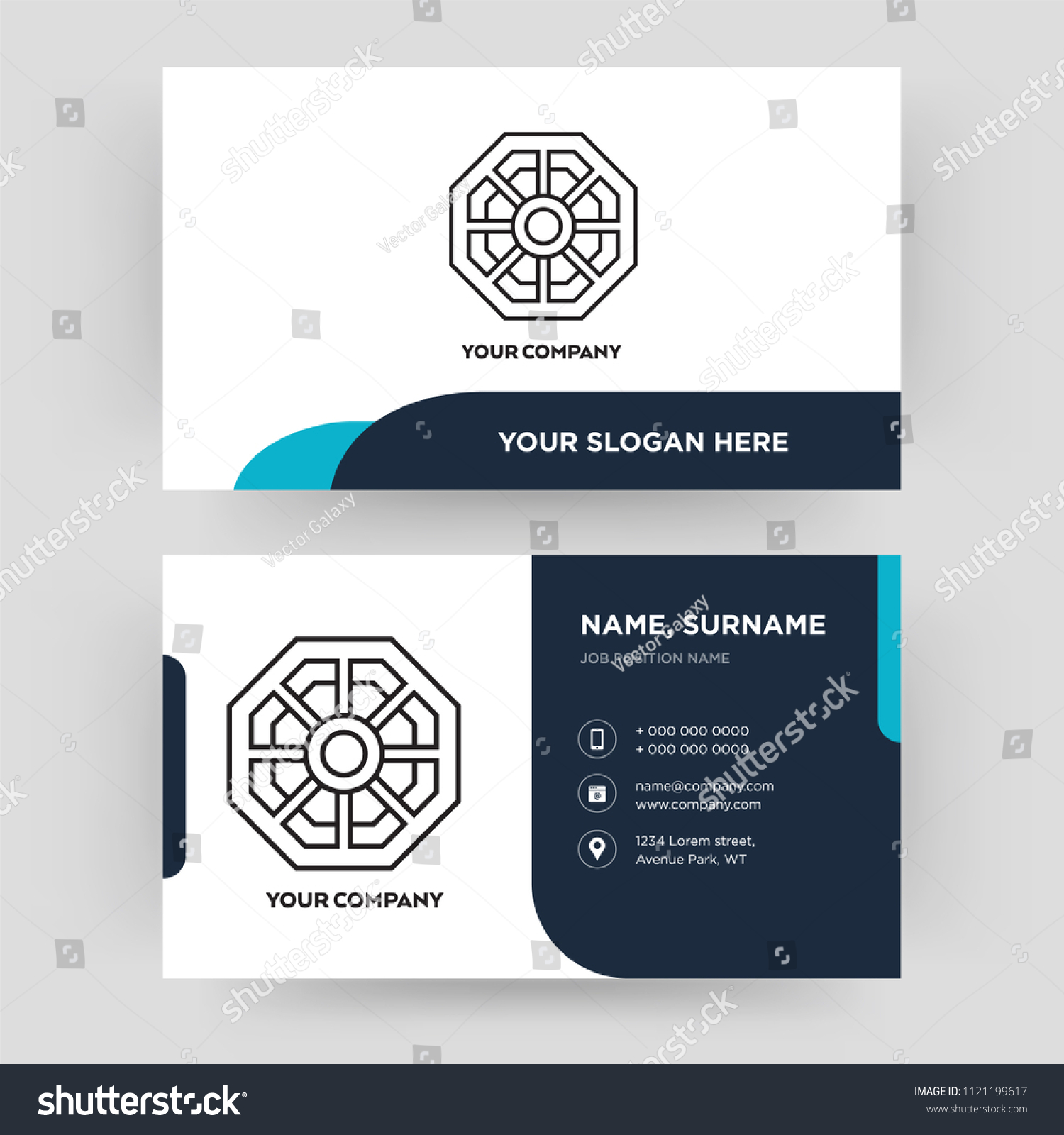 Pa Kua Mirror Business Card Design Stock Photo (Photo, Vector ...