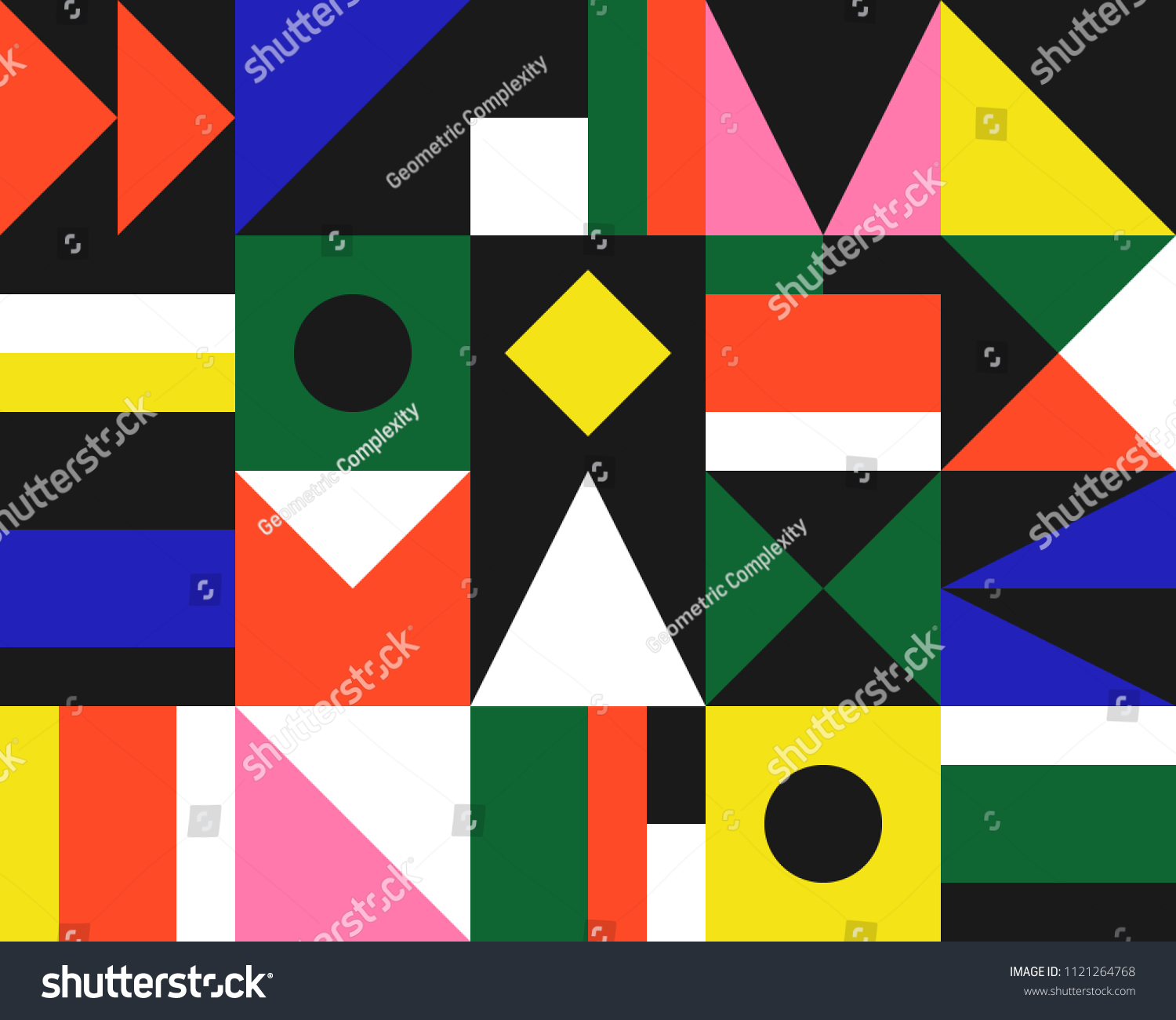 Trendy Geometric Elements Memphis Greeting Cards Stock Vector