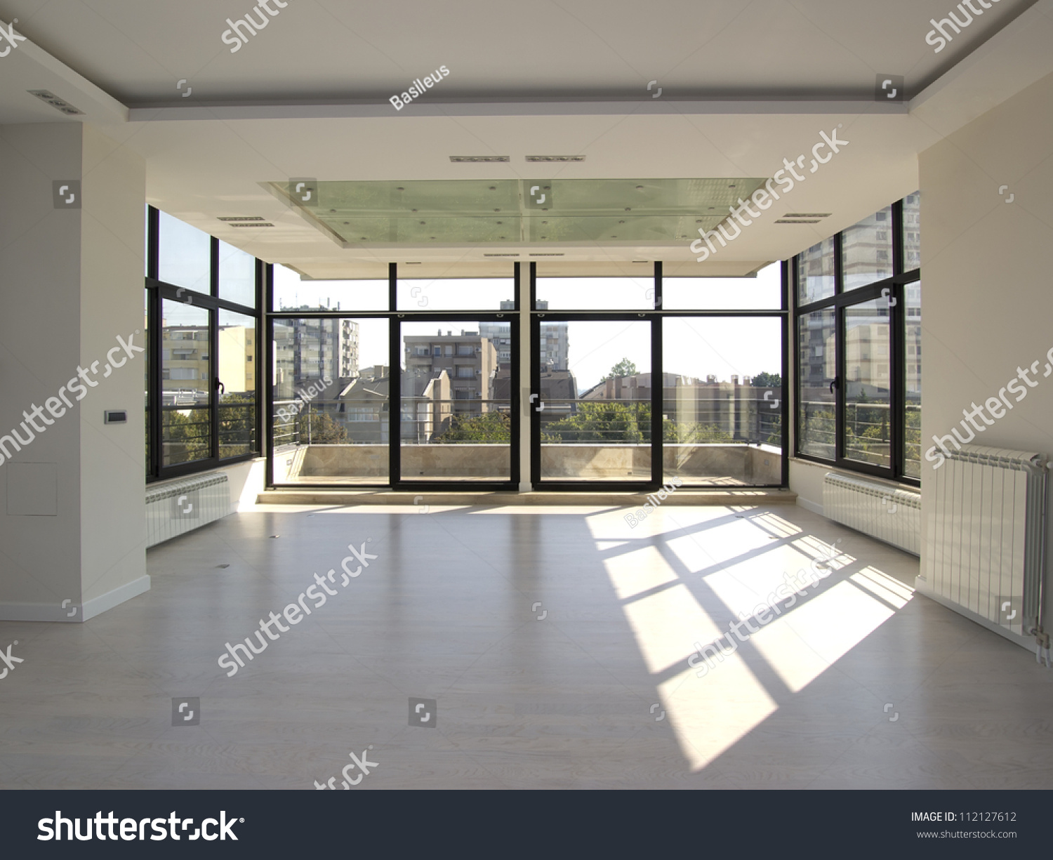Large empty living room stock photo 112127612 shutterstock for Big empty living rooms