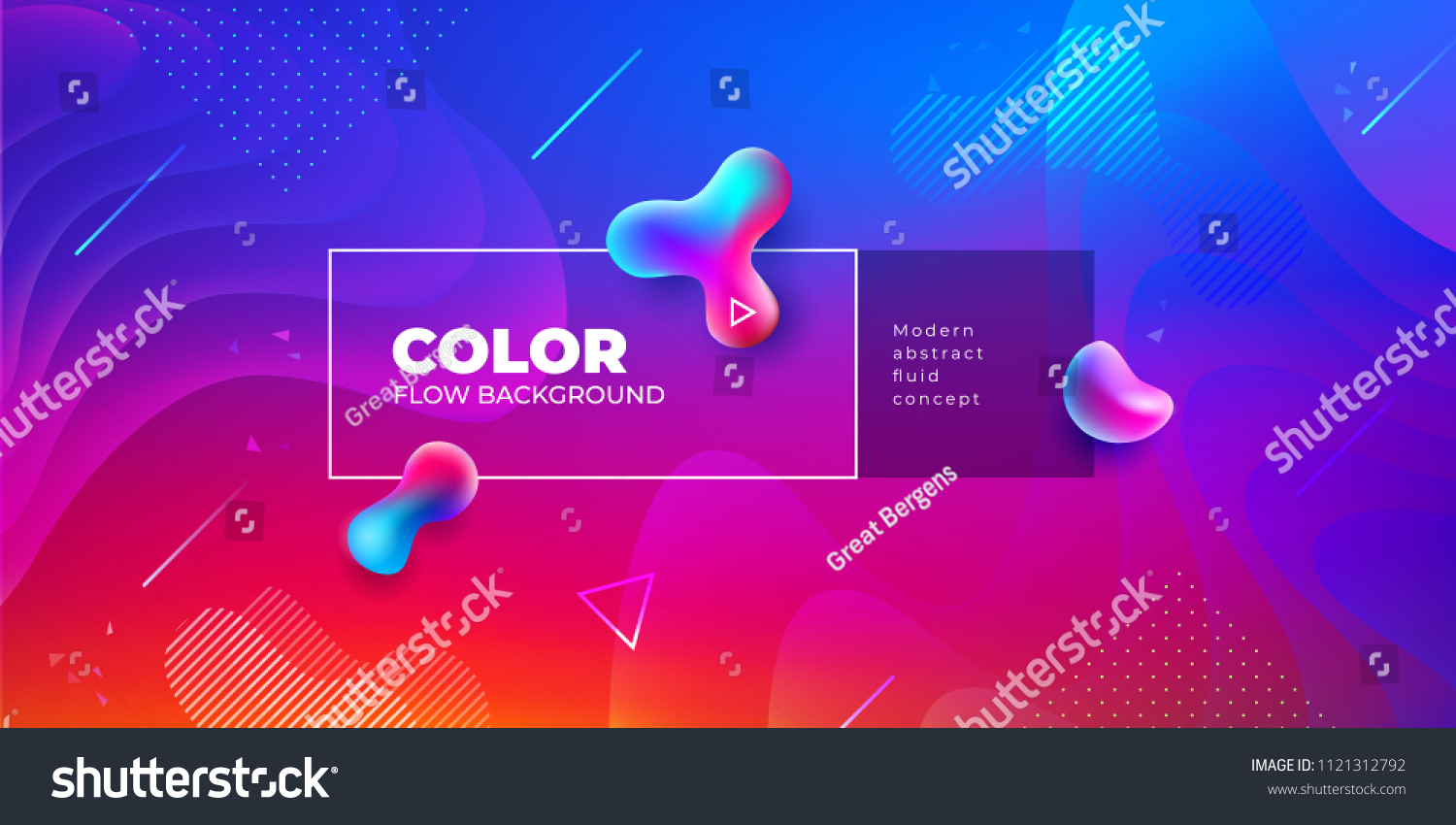 Liquid color background design. Fluid gradient shapes composition. Futuristic design posters. Eps10 vector. #1121312792