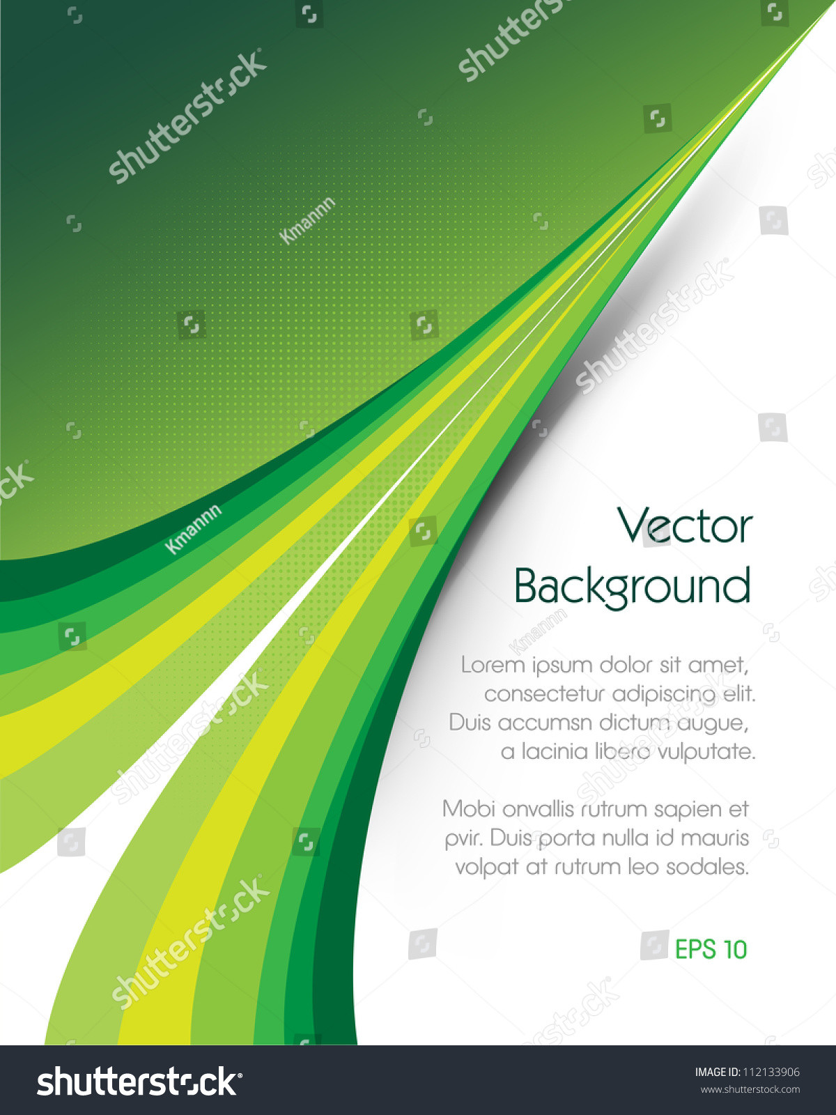 Green brochure vector background this image stock vector Vector image software