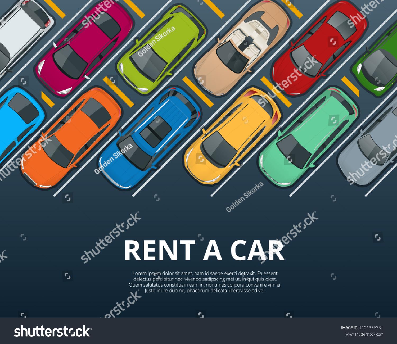 Renting New Used Car Car Rental Stock Vector Royalty Free 1121356331