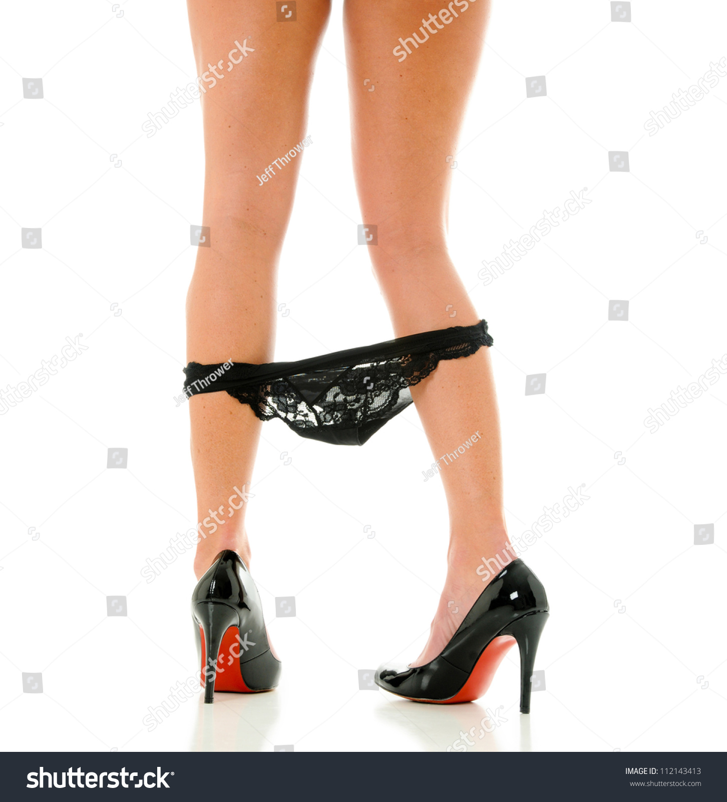 Authoritative Black high heels with panties have thought