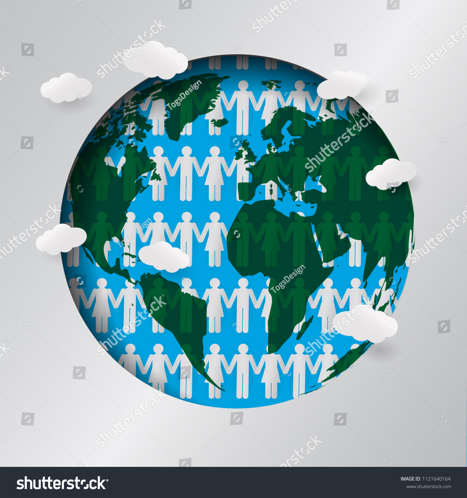 Humans Touch Hand World Map World Stock Vector (Royalty Free ...