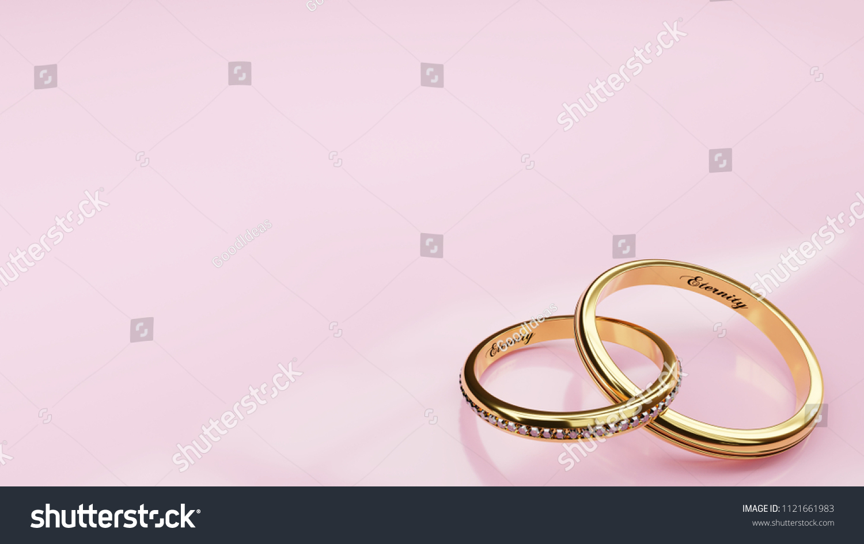 Wedding Card Eternity Pink Background Two Stock Illustration ...