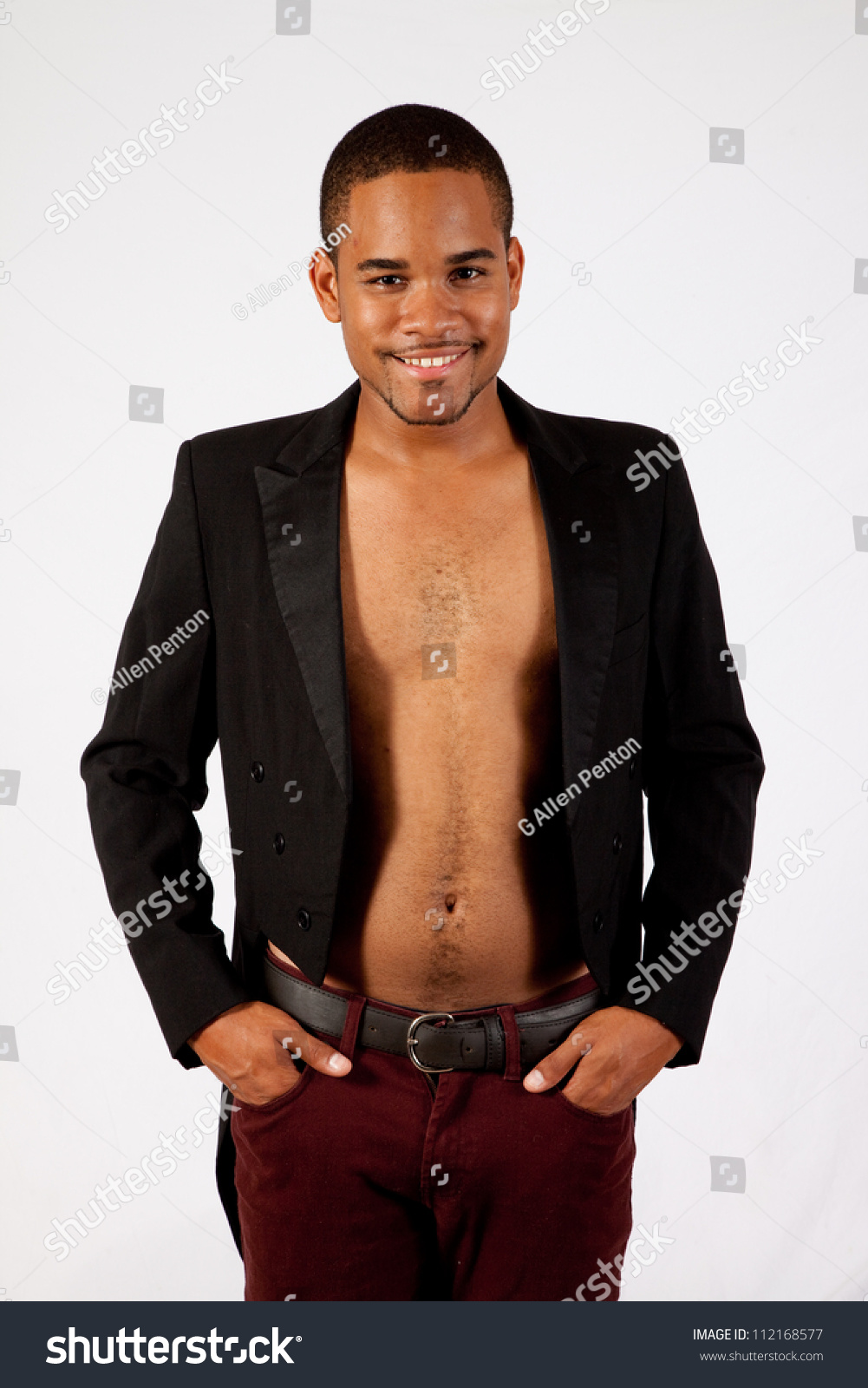 Thoughtful Black Man No Shirt On Stock Photo 112168577 - Shutterstock