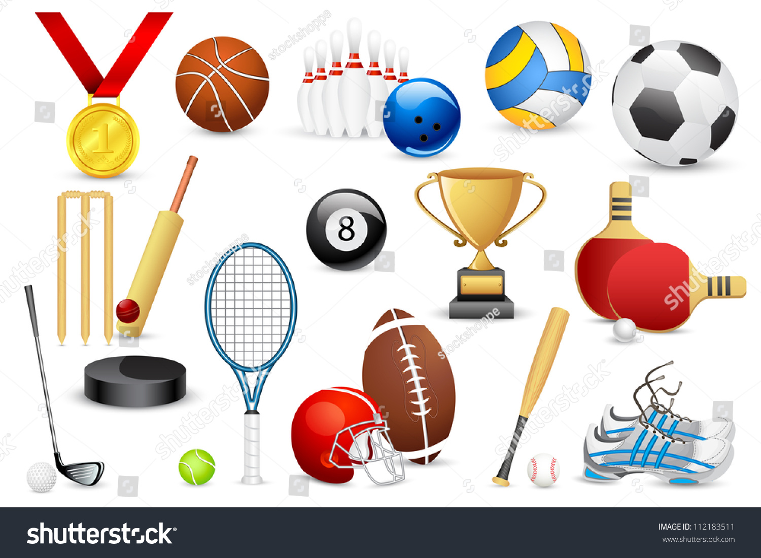 sports different shutterstock vector icon illustration footage vectors illustrations