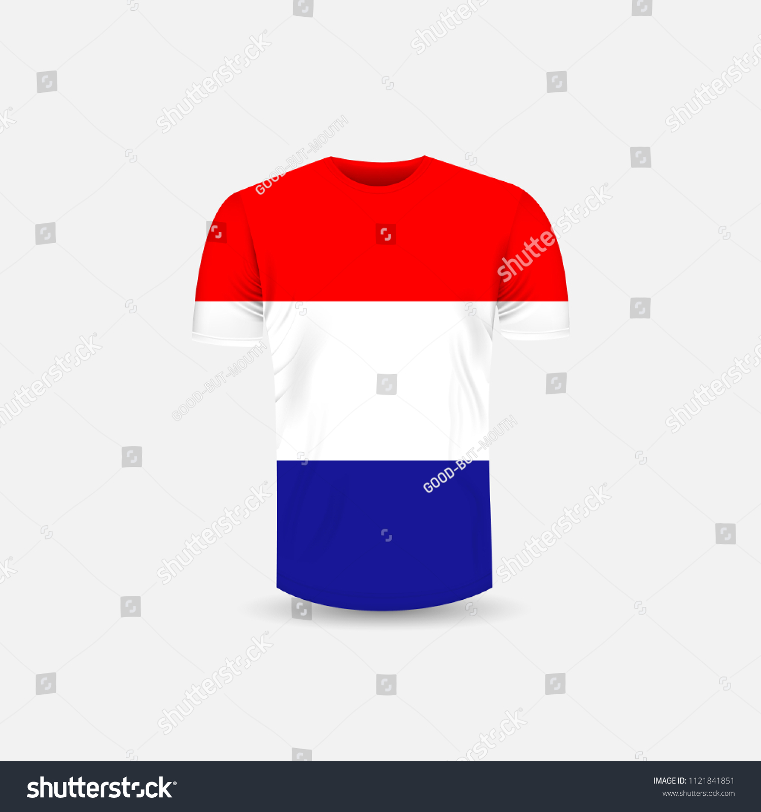 3341ea06e695 Men's T-shirt icon and Croatia flag background.Round neck Jersey  background.Front