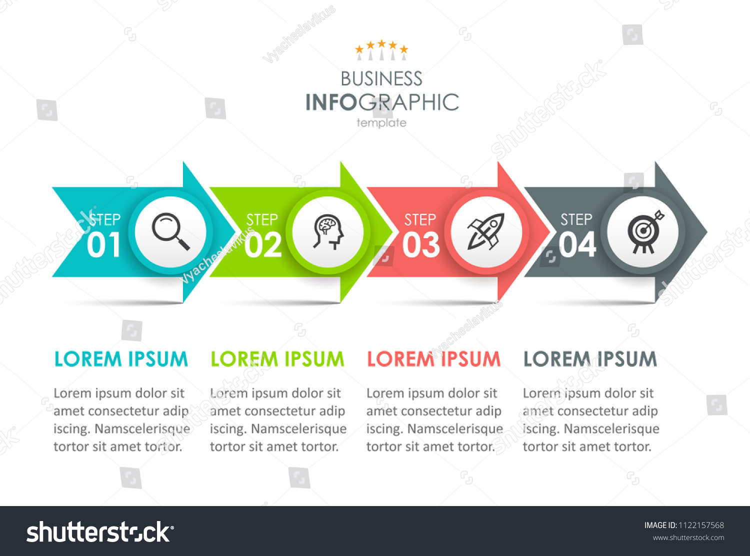 Timeline Infographics Design Template Arrows 4 Stock Vector Royalty Process Flow Diagram With And Options Or Steps Can Be Used For