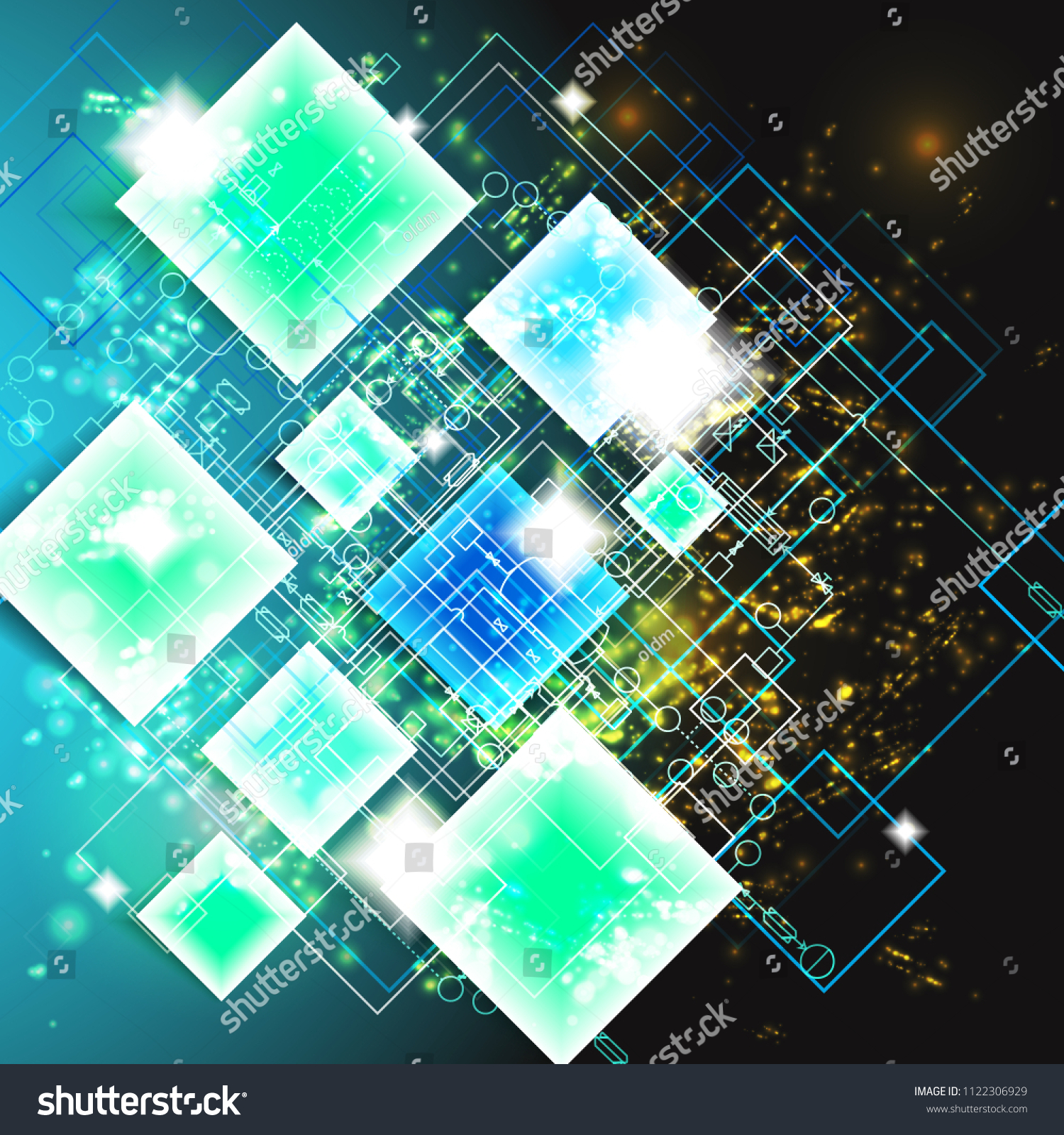 Abstract Vector Circuit Board Background Stock Design Illustration Eps 10