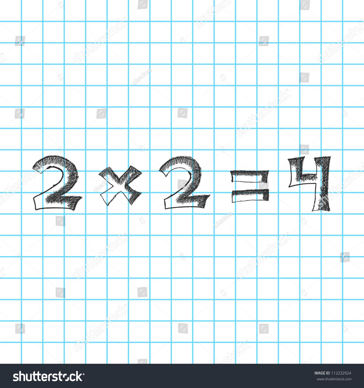 Solution Simple Math Problem On Blackboard Stock Vector 112232924 ...