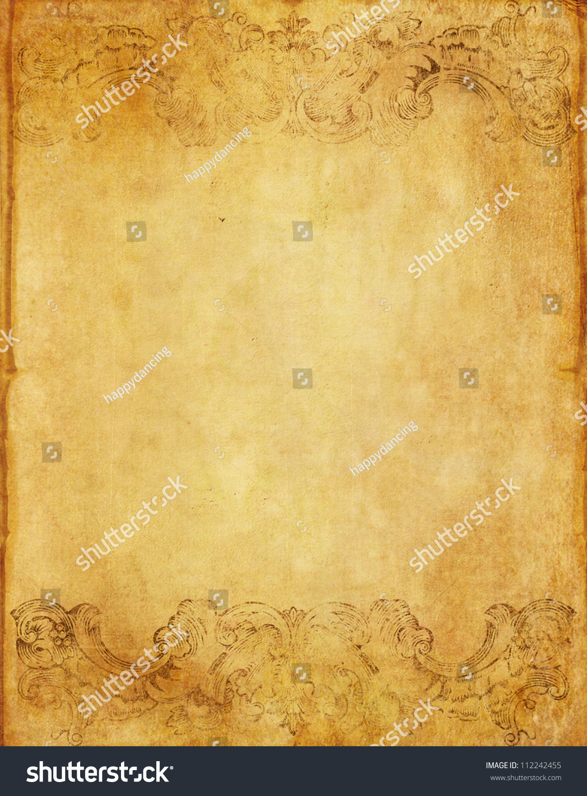 Vintage Book Cover Background ~ Old grunge paper background book vintage stock photo