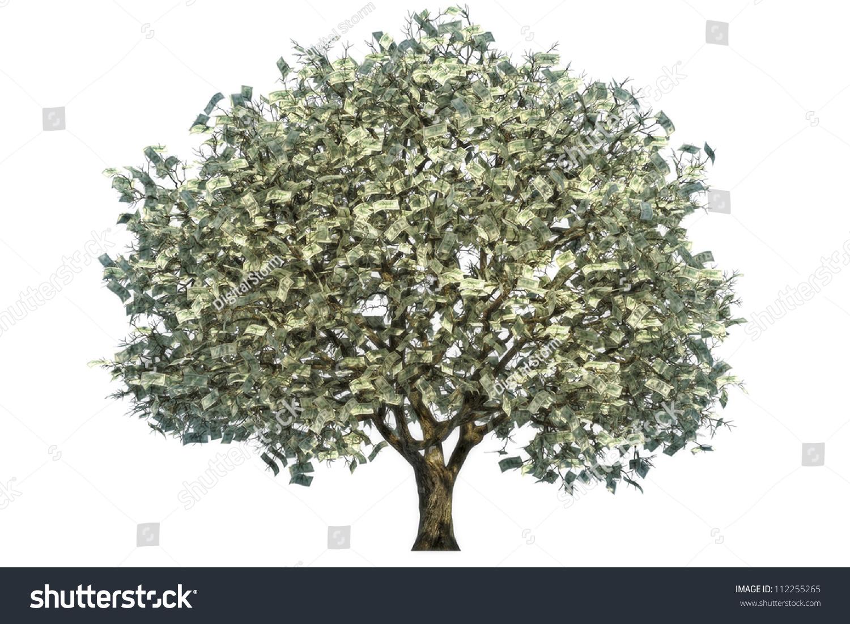 Money Tree Large Tree Money Leaves Stock Illustration 112255265 ...