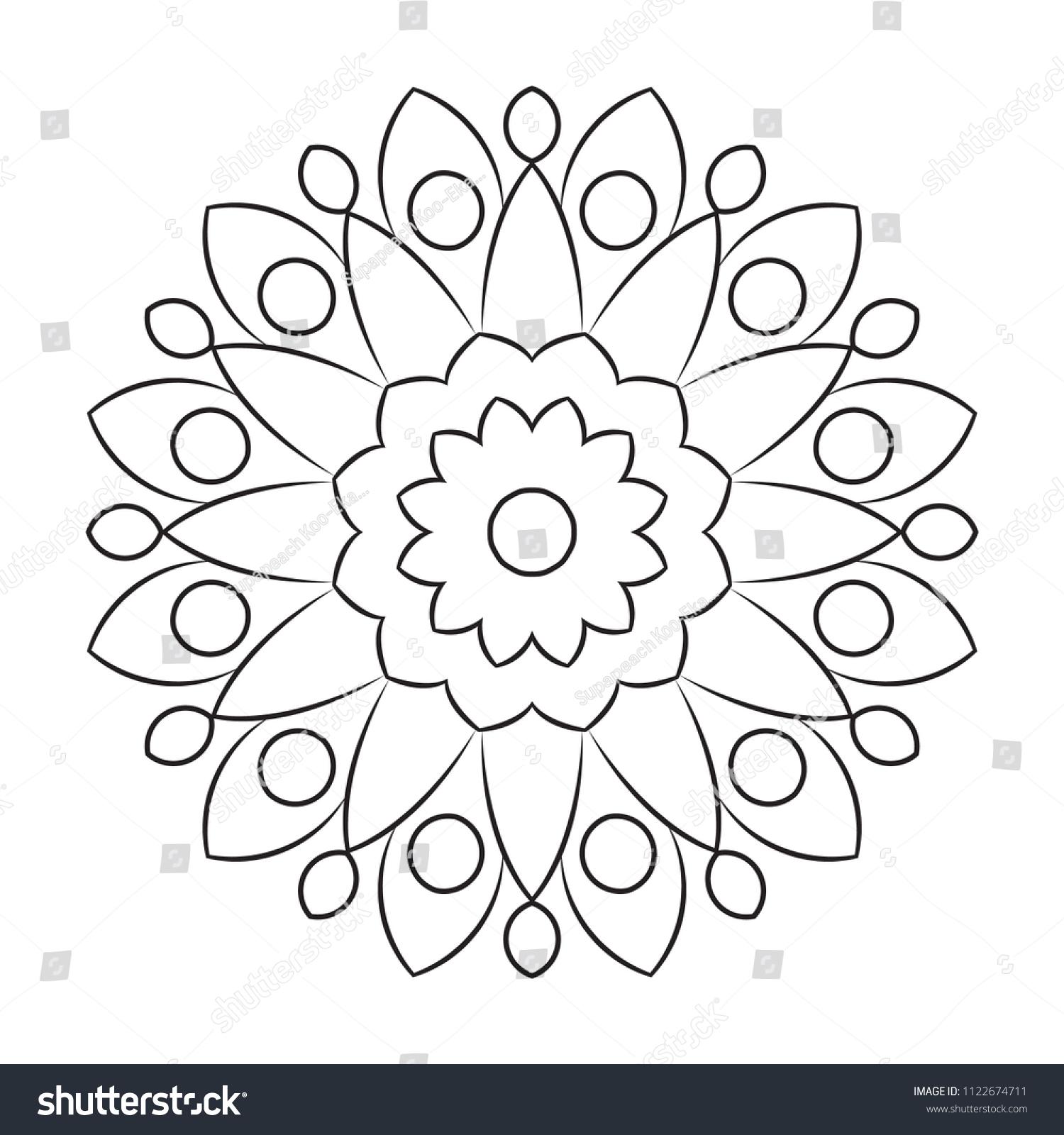 Royalty Free Stock Illustration Of Basic Mandala Easy Mandalas