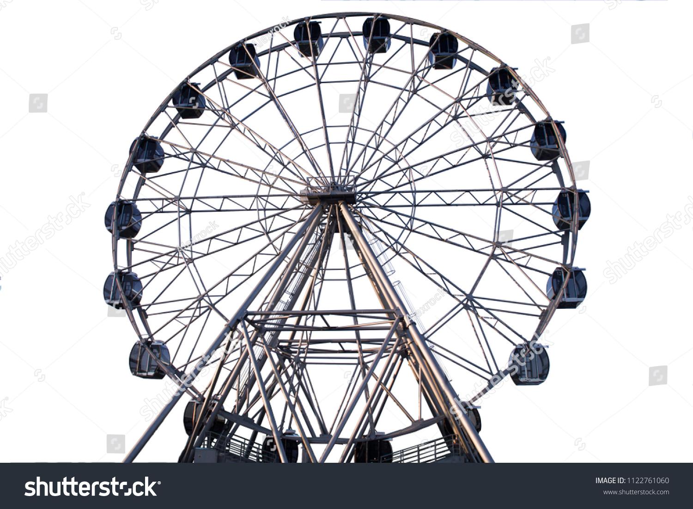 Ferris wheel on white background #1122761060