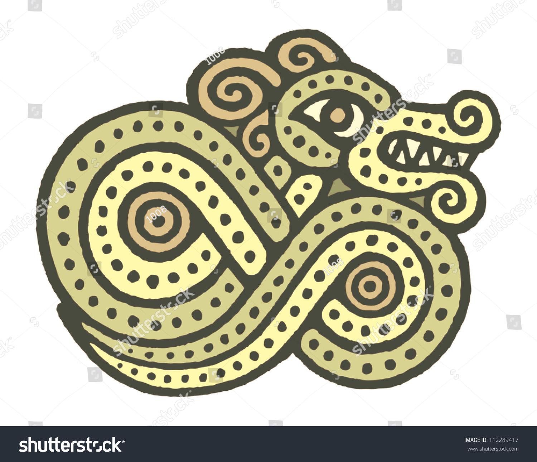 ethnic tribal native celtic viking snake serpent symbol