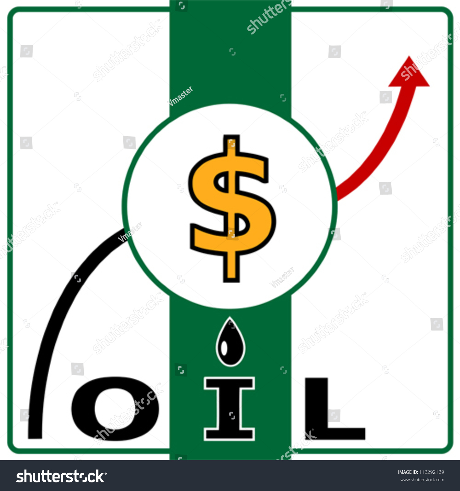 Oil price vector illustration crude oil stock vector 112292129 oil price vector illustration of crude oil and dollar sign with arrow biocorpaavc Gallery