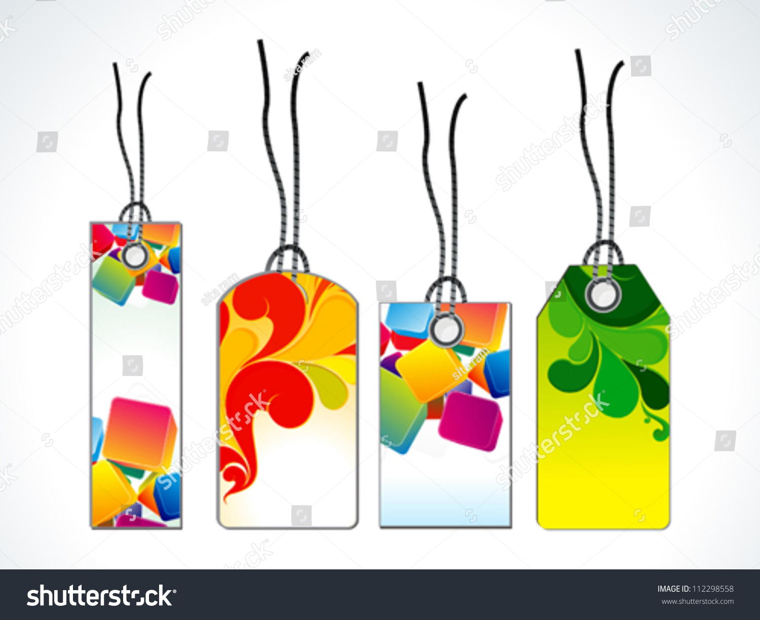 Abstract Sale Tag Template Vector Illustration Stock Vector