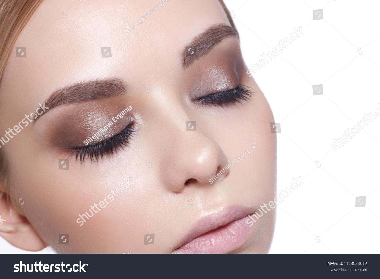 Beautiful Fashion Luxury Makeup Long Eyelashes Stock Photo Edit Now