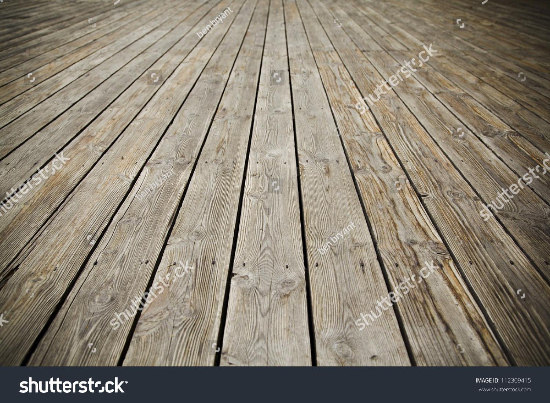 Texture Of Perspective Old Wood Floor
