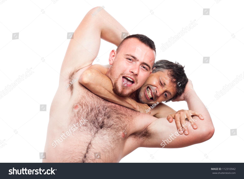 Naked Men Fighting 16