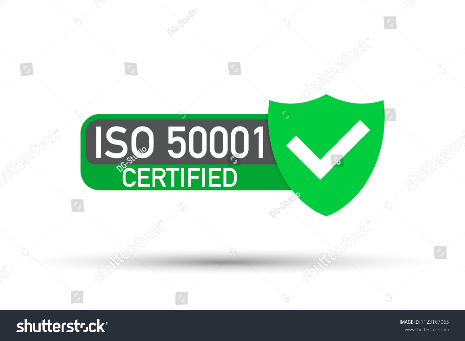 Iso 50001 Standard Certificate Badge Energy Stock Vector Royalty