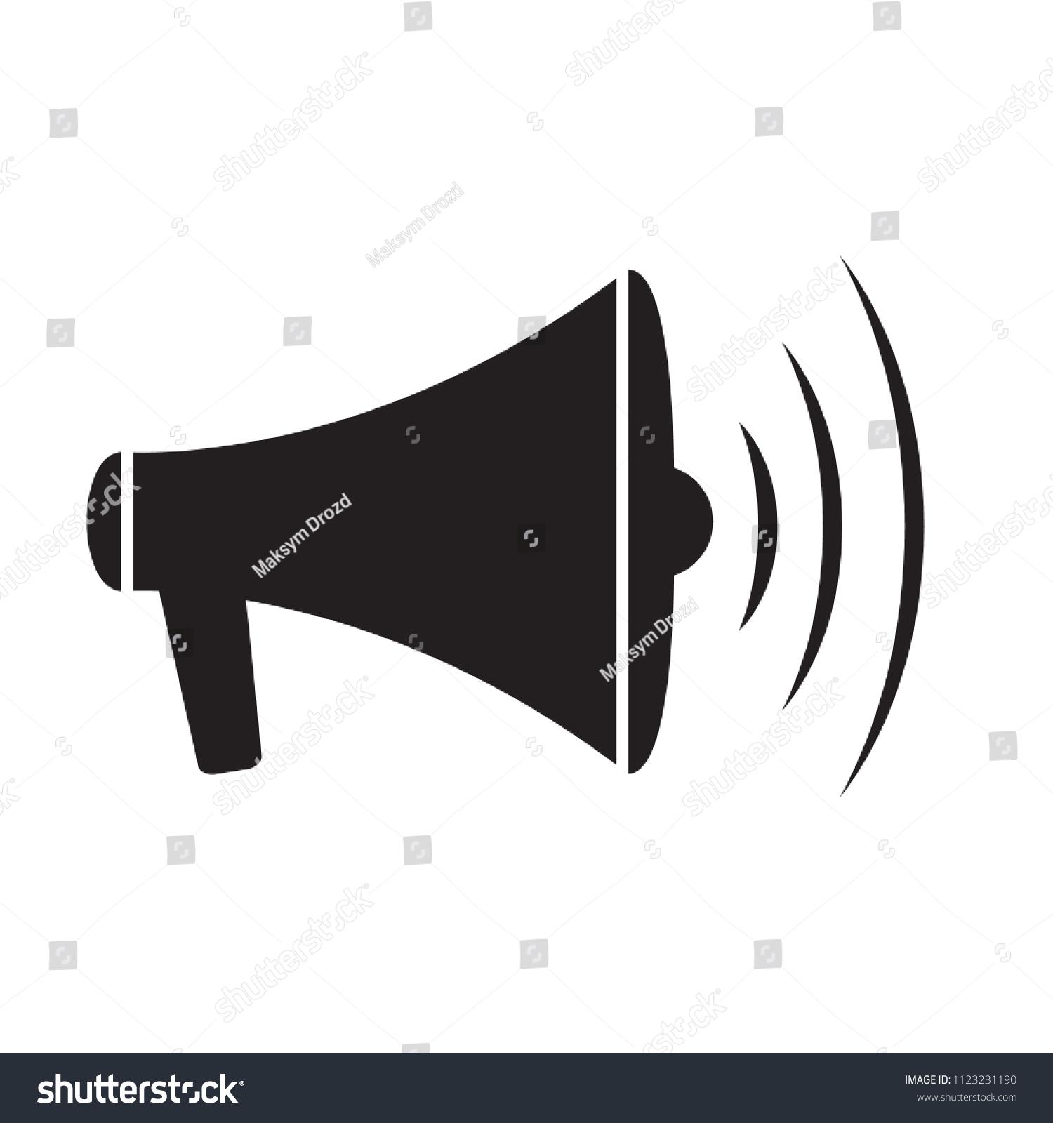 Megaphone Icon Loud Speaker Icon Loudspeaker Stock Vector (2018 ...