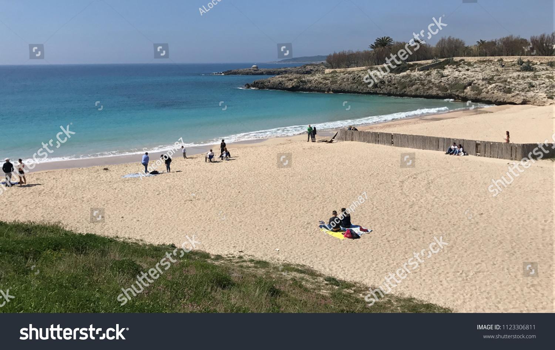 Taranto italy april 2017 beautiful beach stock photo edit now