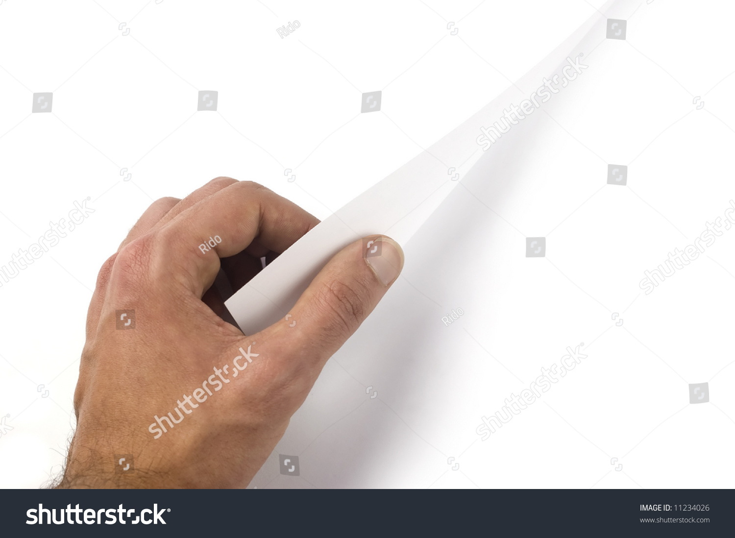 Hand Turn Over A Page White Background In Both Of The Pages To Write It