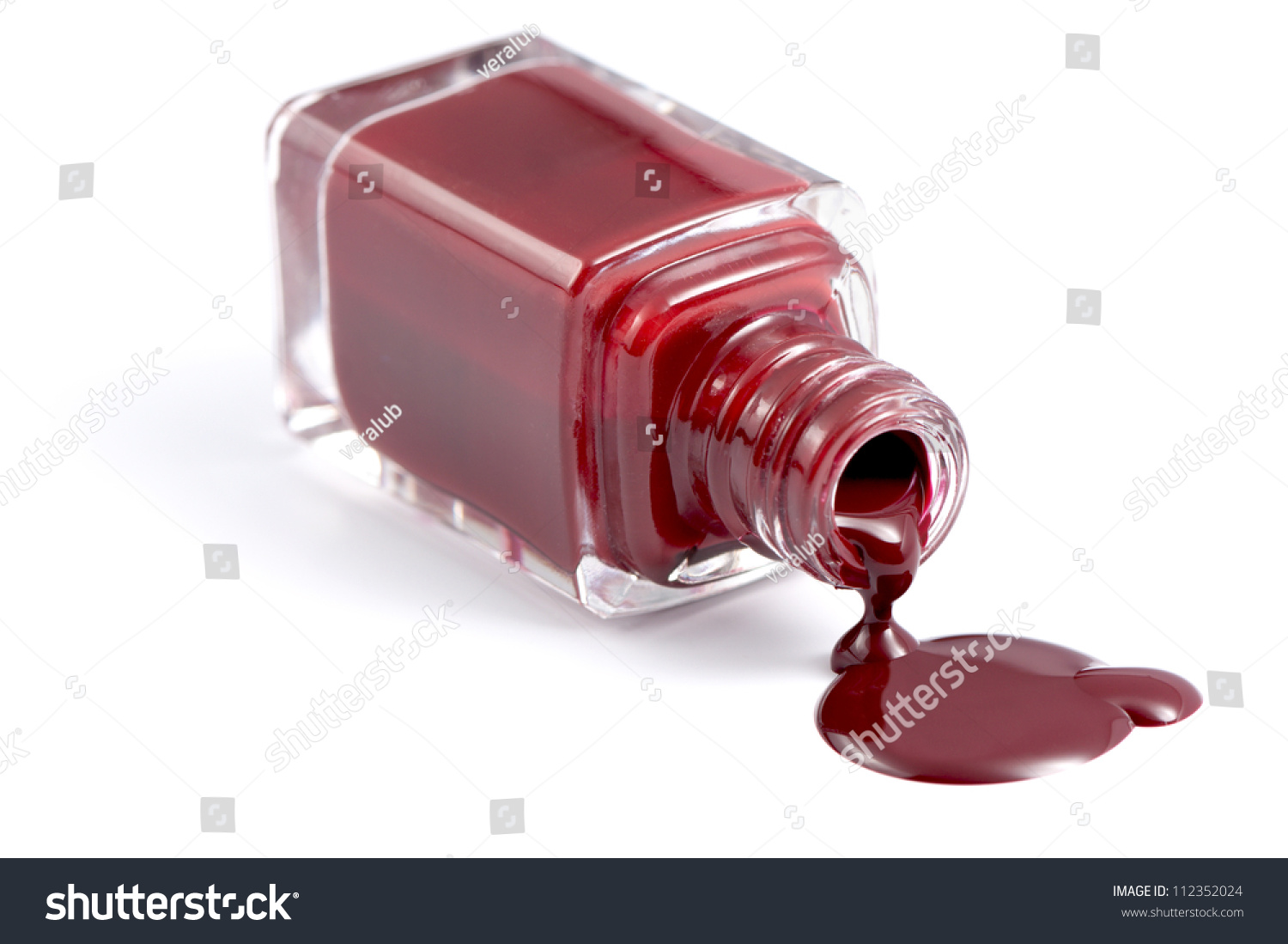 Bottle Beautiful Deep Red Nail Polish Stock Photo (Royalty Free ...
