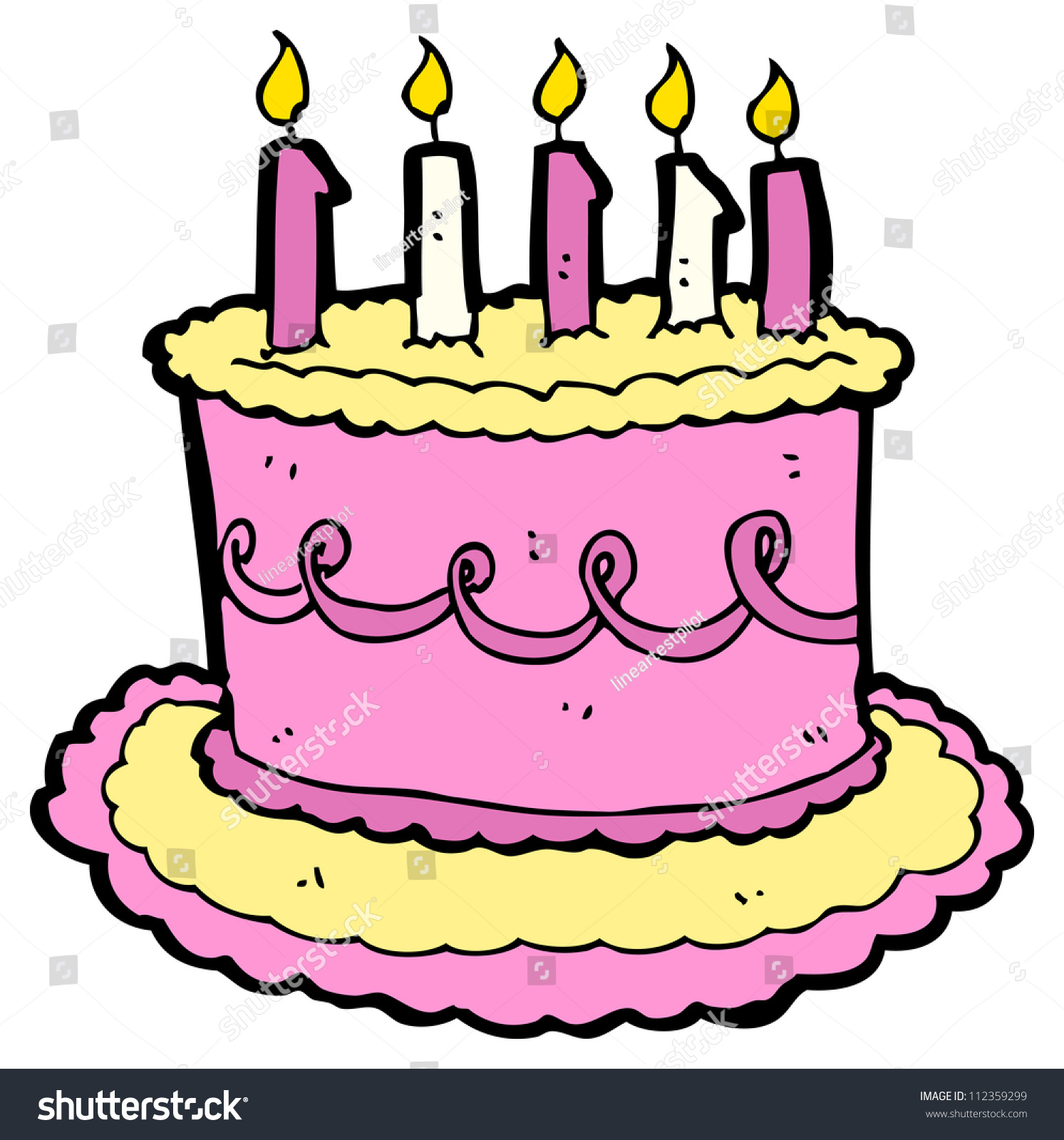 Cartoon Birthday Cake Stock Illustration 112359299 ...