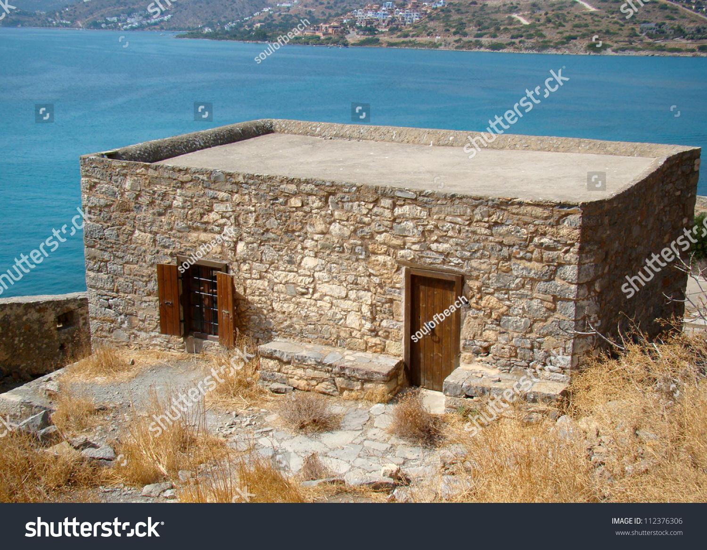 Old Abandoned Stone House On Island Stock Photo 112376306