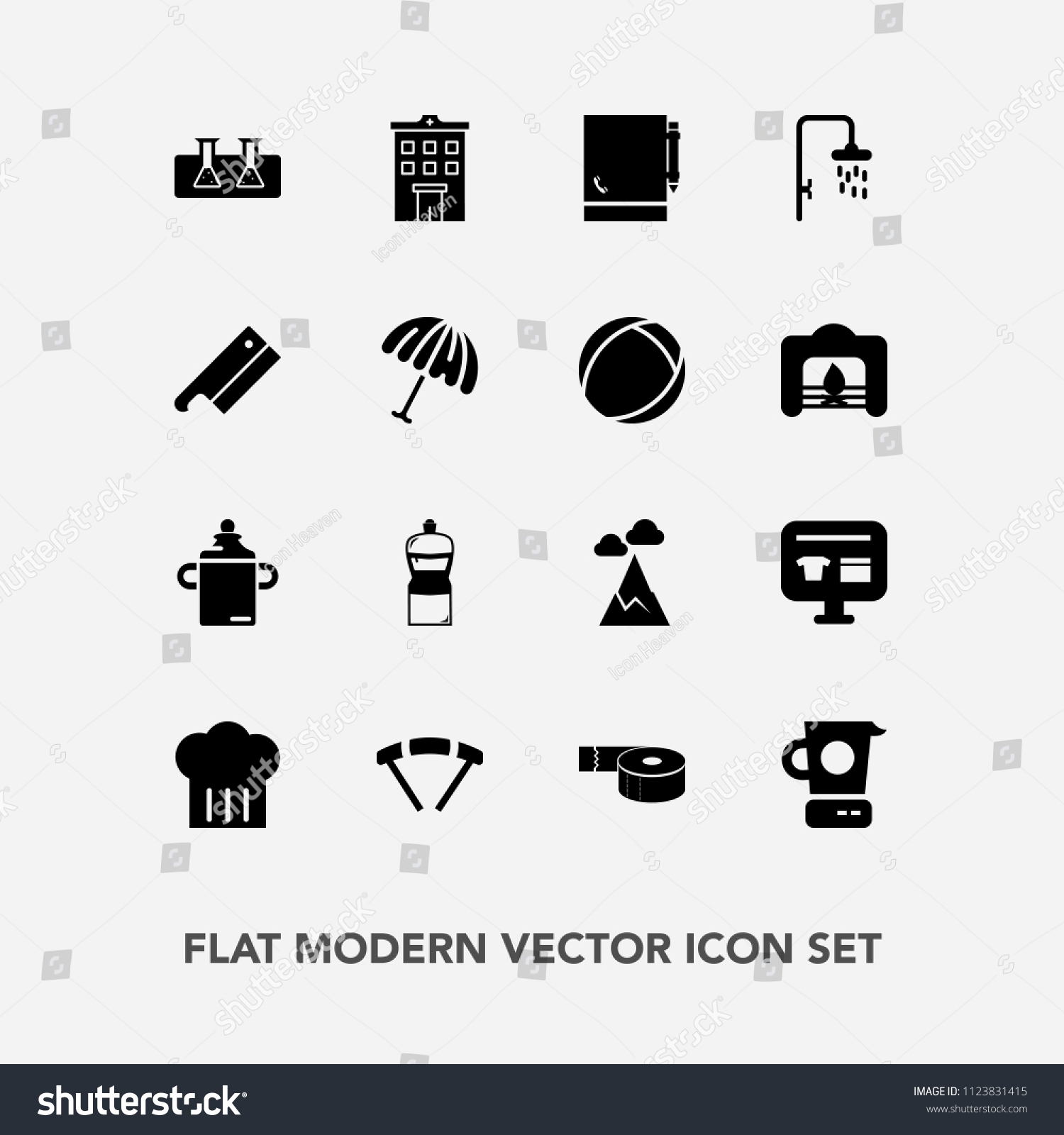 Modern Simple Vector Icon Set Estate Stock Vector 1123831415 ...