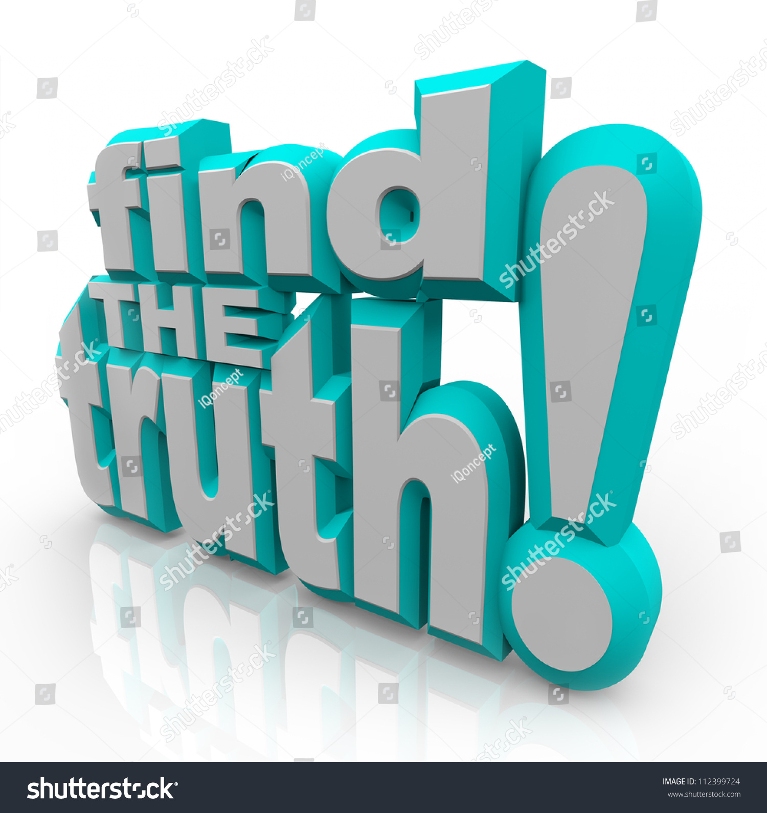 Words Find Truth 3d Letters Representing Stock Illustration ...