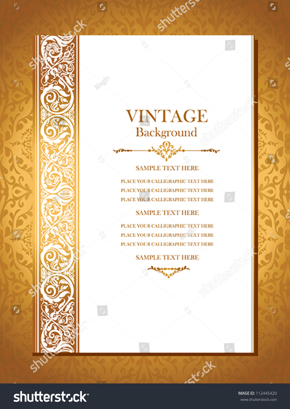 Vintage Royal Background Antique Victorian Gold Stock
