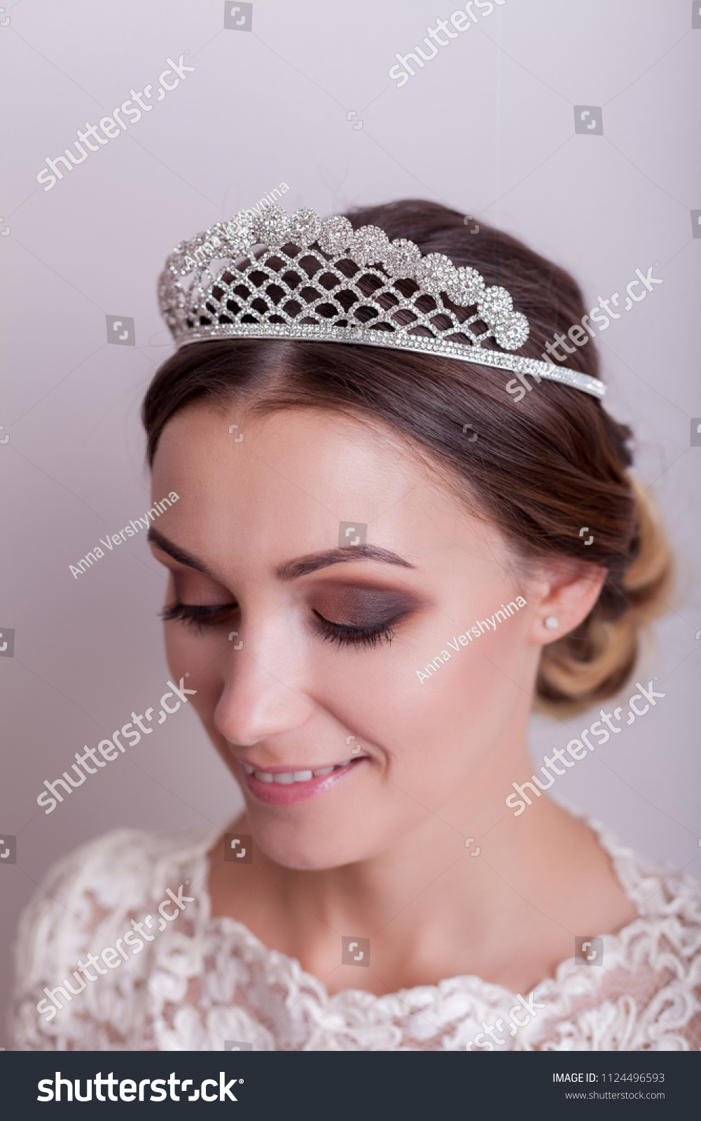 Russian Beauty Contest Winner Wearing Expensive Stock Photo Edit