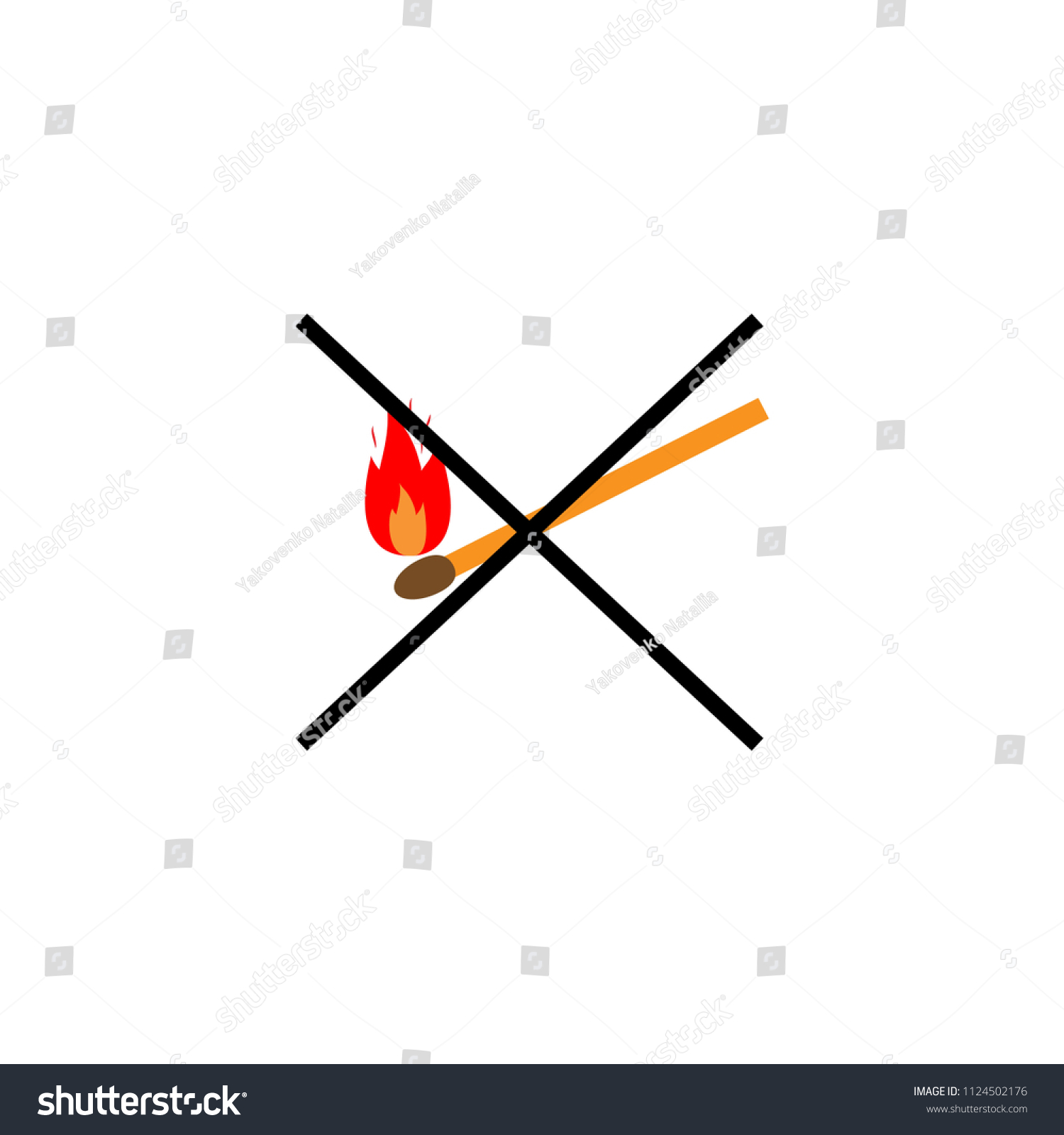 Do Not Kindle Fire Red Sign Stock Vector Royalty Free 1124502176