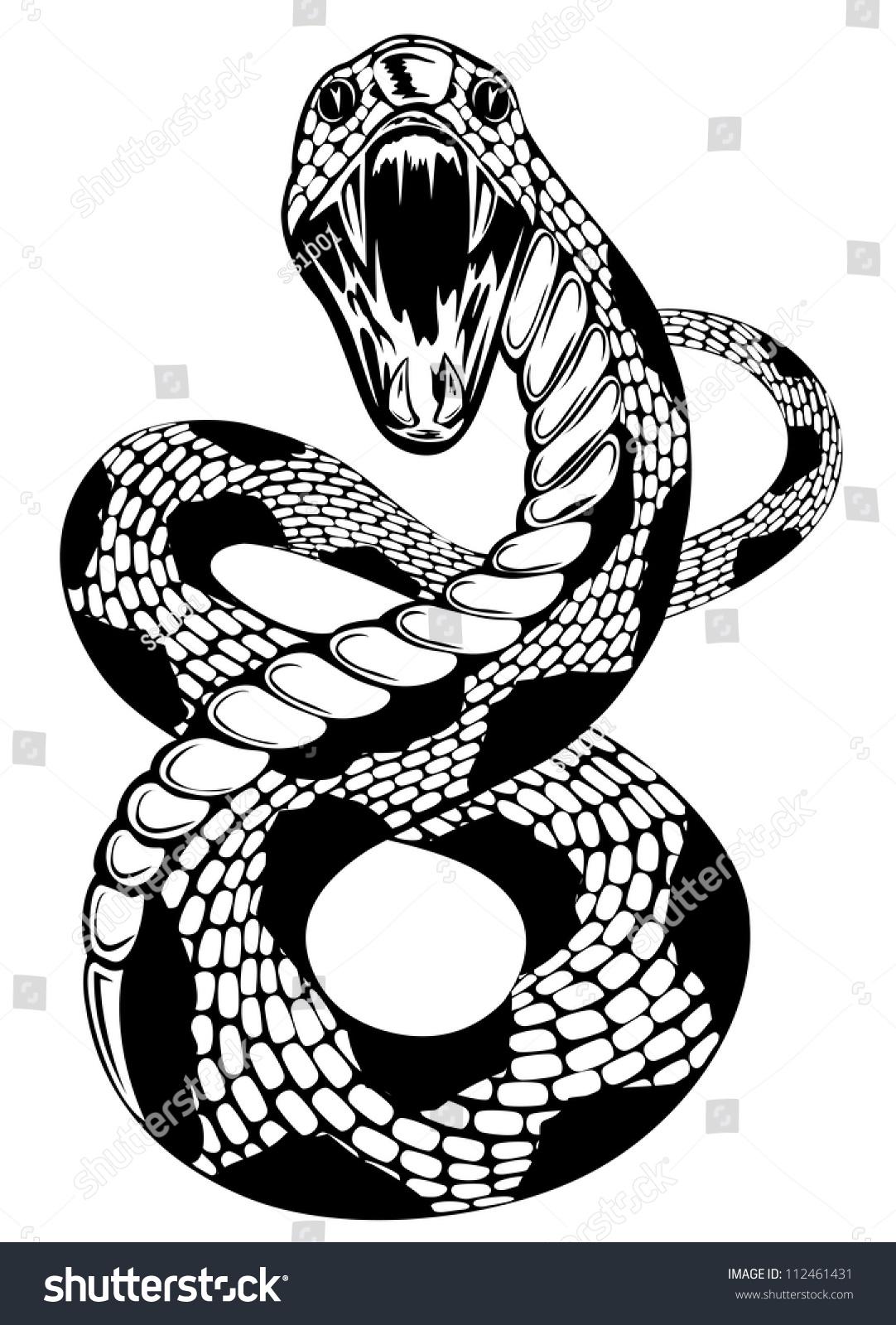 rattlesnake head clip art