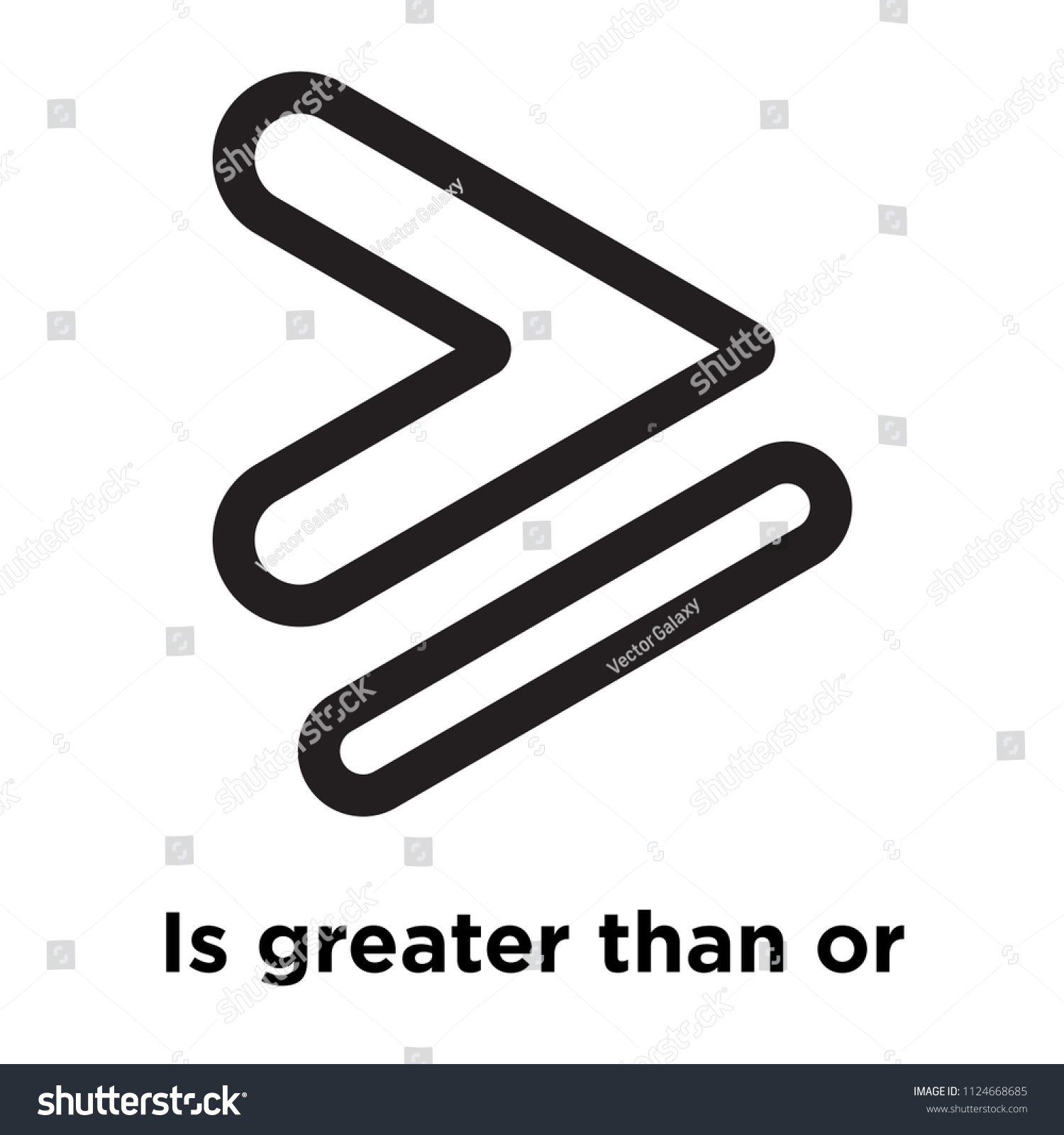 Greater Than Equal Symbol Icon Vector Stock Vector Royalty Free