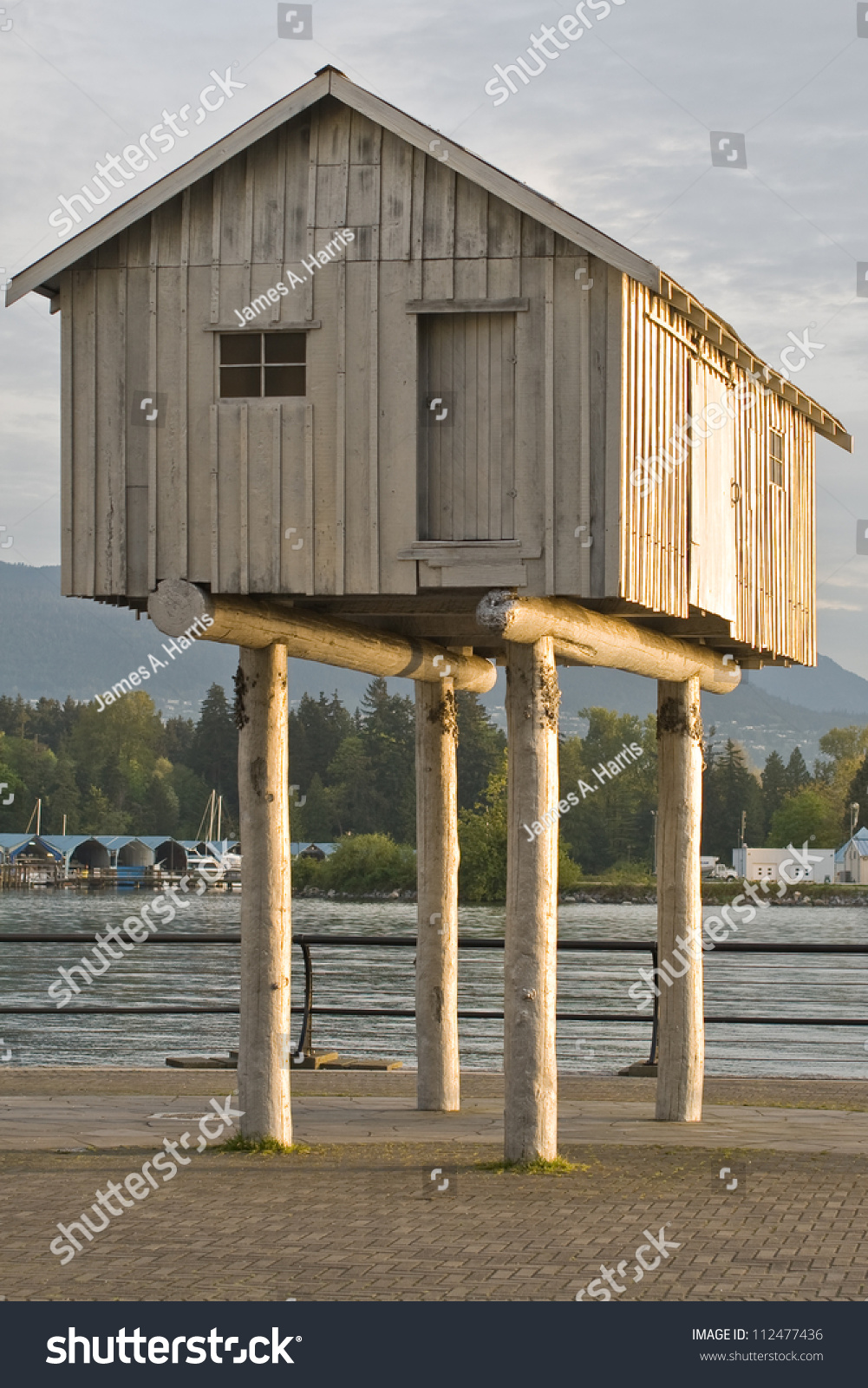 A wonky house on stilts in harbour green park vancouver bc